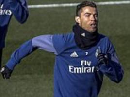 real madrid news: cristiano ronaldo and co train hard