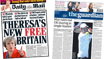 newspaper headlines: may's brexit speech previewed in press