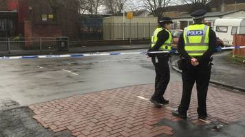 penilee shooting: police search for gunman's pushchair