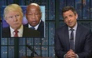 Stephen Colbert, Seth Meyers Slam Trump's Attacks On Rep. John Lewis