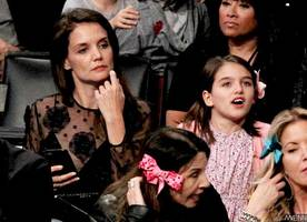 Katie Holmes and Suri Cruise Have Mother-Daughter Date at Lakers Game