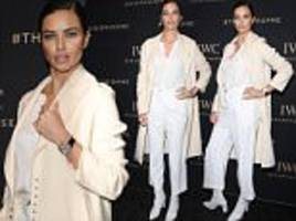 adriana lima cuts a stylish figure for swiss fashion bash