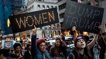 Women's March marks end to 'couch potato politics'