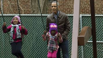 the obamas donated malia and sasha's old swingset to a family shelter
