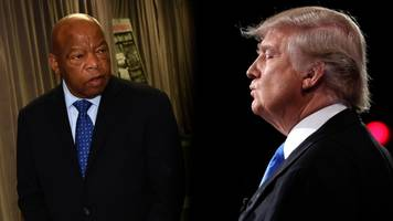 trump says lewis is 'wrong' about never skipping an inauguration