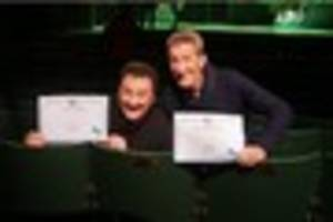 the chuckle brothers' 50 years in panto honoured by seat naming...
