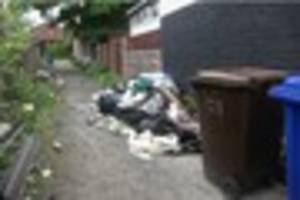 three in court after rubbish dumped across stoke-on-trent