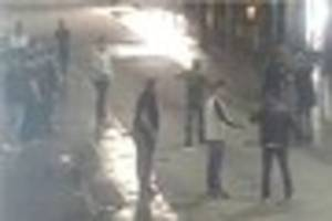 cctv released as police investigate mass brawl in exeter city...