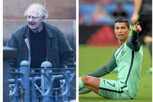 oap took a dive 'like cristiano ronaldo' and claimed he was attacked in row over garden shears