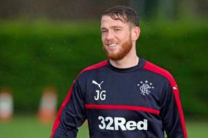 rangers striker joe garner set to return within the month after scan reveals there's no need for surgery
