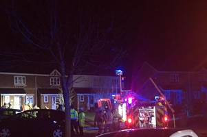 man taken to hospital after major house fire in caerphilly