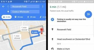 Google Maps Shows Parking Availability to Some Users