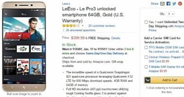 LeEco Le Pro3 Flagship Goes on Sale in the US via Amazon