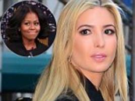 Ivanka Trump had hour long meeting with Michelle Obama