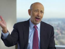 goldman sachs ceo: the markets were already great before trump's win