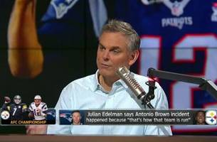 the patriots will beat the steelers because of brown livestream   the herd