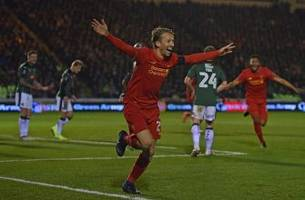 Liverpool edges fourth-tier Plymouth in FA Cup replay on rare Lucas goal