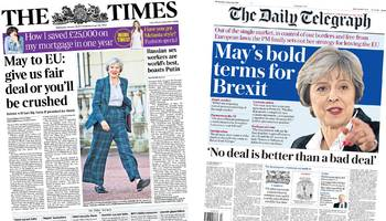 Newspaper headlines: Theresa May's Brexit 'deal or no deal'