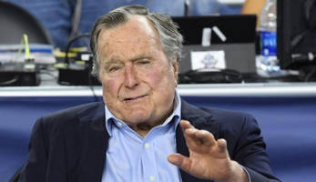 george h.w. bush now in intensive care, barbara bush also hospitalized