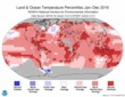 Earth Had Its 3rd Hottest Year In A Row In 2016
