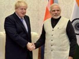 boris johnson talks free trade with india before modi meet