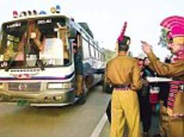 india to pakistan bus and rail links put on high alert