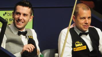 masters 2017: mark selby and barry hawkins progress to quarters