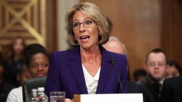 betsy devos: certain schools might need guns to protect from grizzlies