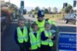 why traffic outside morley primary school has been brought up in...