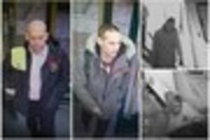 Men caught on camera are wanted by police