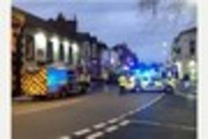 Child and unconscious woman among four people rescued from blaze...