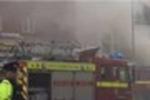 seven people rescued from house following suspected arson attack