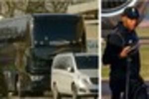 liverpool coach pictured outside plymouth's future inn ahead of...