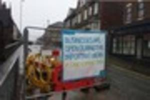 Traders claim Severn Trent sign advertising shops are open in...