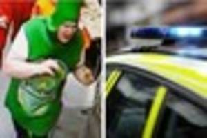 police want to speak to man dressed as beer bottle in connection...