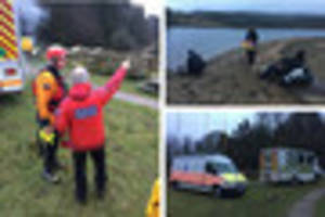 police recover body of a man from dartmoor reservoir