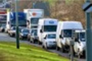 delays on the a2 near bluewater after accident