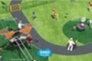 These four designs show what the new St Radigunds play park in...
