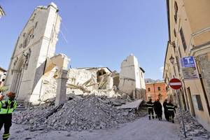 report: central italy struck by three earthquakes within hour