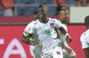 watch guinea-bissau player's lung-busting run to score a stunner