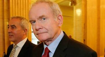 martin mcguinness will not seek reelection to stormont assembly
