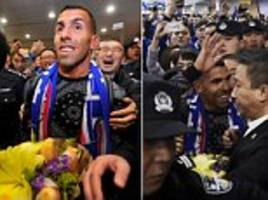 carlos tevez's chinese super league adventure begins