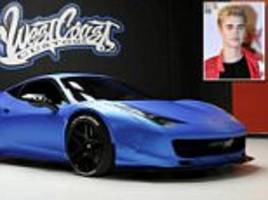 Ferrari that Justin Bieber forgot he owned up for auction
