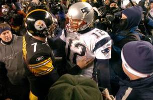 somehow, it's been 12 years since tom brady and ben roethlisberger met in the playoffs