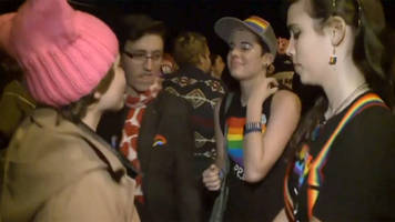 lgbt dance party staged outside incoming us vice-president mike pence's house