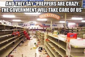 empty shelves & madness (in america): a minor winter storm drove people into panic buying of food and basics