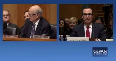 Mnuchin Hearing Descends Into Early Chaos After Senator Offers Valium To Colleague