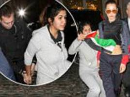 bella hadid accosted by woman with palestine flag  in ny