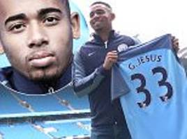 Gabriel Jesus finally unveiled at Man City after £27m move
