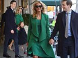 Ivanka Trump and family step out ahead of inauguration